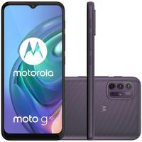 Tenha um universo de possibilidades a disposição na palma da sua mão, graças ao Smartphone Motorola Moto G10. A Tela de 6.5 Polegadas com tecnologia M