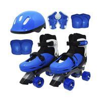 Patins 4 Rodas Roller com Kit de Proteção Tamanho P BW017AZP - AzulOs patins garantirão diversão, lazer e muitas aventuras! Super fácil e prático para
