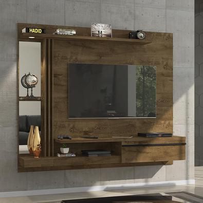 Painel para TV Ideal para sua sala! Possui prateleira, excelentes para acomodar objetos decorativos, etc. Foi elaborado em Mdp 15mm que garante resist