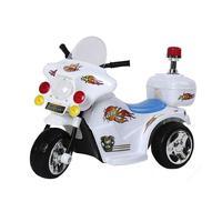 Mini Moto Elétrica Police BW006Peso máximo suportado: Até 17kgVelocidade: 2,5km/hBateria recarregável de 6VTempo de carregamento: 10 a 12 horasDimensõ