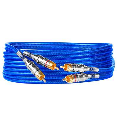Formado por fios sólidos e com condutor de cobre, o cabo RCA T5B 5M é um condutor de sinal de um metro de comprimento, muito versátil, podendo ser uti