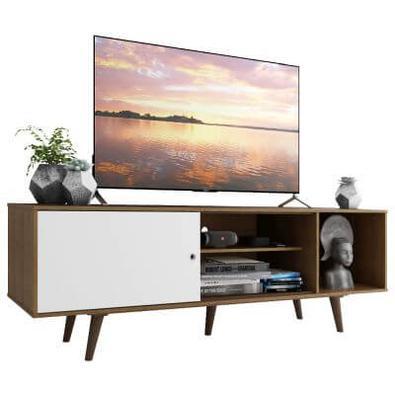 Sabemos que a sala de estar é um ambiente para diversão e relaxamento. Então nada melhor do que apostar na praticidade e elegância do Rack Dubai da Ma