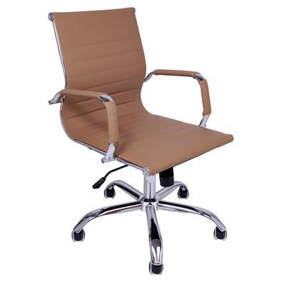 A Cadeira Charles Eames Diretor foi projetada para fornecer conforto e segurança. Ela é giratória, reclinável, possui regulagem de altura e rodízio: t