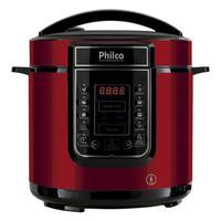 Quer preparar pratos maravilhosos que vão surpreender seus amigos e familiares? Com a Panela de Pressão Digital Philco 6L Inox Vermelha você pode! Seu