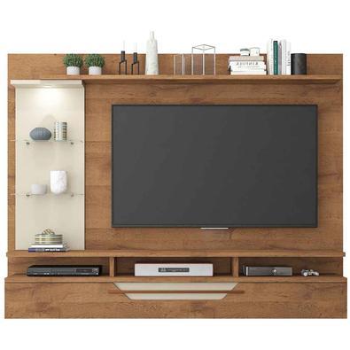 O Painel para Tv 50 polegadas Londres da Permobili possui estilo retrô com pés palito de madeira tingida. Os detalhes desse produto irão valorizar ain