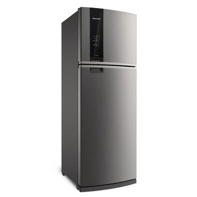 Refrigerador Brastemp Frost Free Duplex 500L 2 Portas Evox 220V BRM57AK A Geladeira Brastemp Frost Free Duplex BRM57AK 500 litros, com a função Turbo