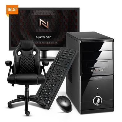Desktops de Qualidade Neologic com Intel de 10ª Geração Montagem certificada e componentes confáveis para um computador seguro, durável e de alta perf