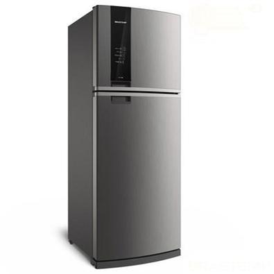A Geladeira Brastemp Frost Free Duplex BRM56 462 litros conta com a função Turbo Ice - gelo mais rápido sempre que precisar, com aviso de quando está