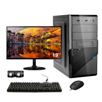 Computador Completo Corporate I3 4gb 120gb Ssd Monitor 19LINHA CORPORATEA Uai Comércio Digital traz ao mercado os computadores da linha CORPORATE, pro