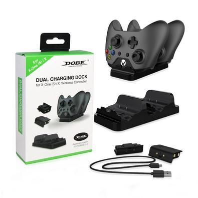 Base carregadora + 2 Baterias Dobe Controle Xbox One + Usb OBS.: NÃO SERVE PARA XBOX SERIES. FICAR ATENTO SE O CONTROLE É O MESMO QUE VEIO NO XBOX ONE
