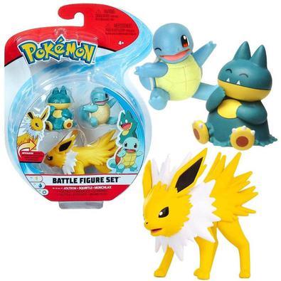 Escolha o Pokémon certo para cada Batalha Pokémon! São 3 figuras sortidas e articuladas para você colecionar e brincar. Seja você também um treinador