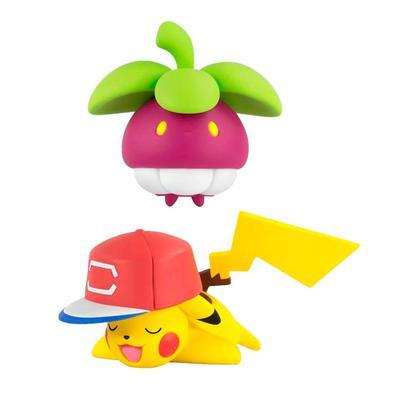 Figuras articuladas de 2 à 9 cm dos personagens de Pokemon para completar sua brincadeira e recriar cenas da série.
