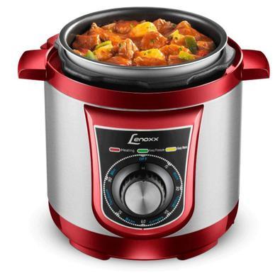 A panela de pressão elétrica Lenoxx PPP 163 é ideal para o preparo de vários alimentos como: peixes, legumes, arroz, aves, sopa, feijão, carnes entre