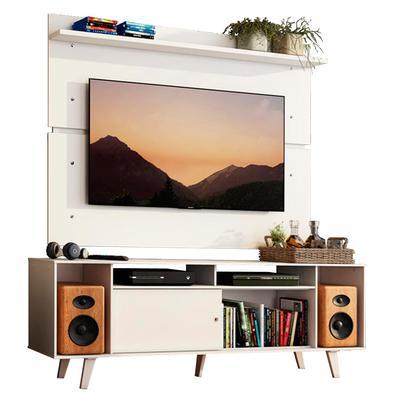 A combinação do Rack Cancun com o Painel 2101 é a escolha ideal para renovar a sua sala de estar com toda a qualidade que os produtos da Madesa oferec