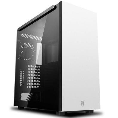 Gabinete Gamer Deepcool Macube 550 WH, Mid Tower, com FAN, Lateral em Vidro, Branco - GS-ATX-MACUBE550-WHG0P.