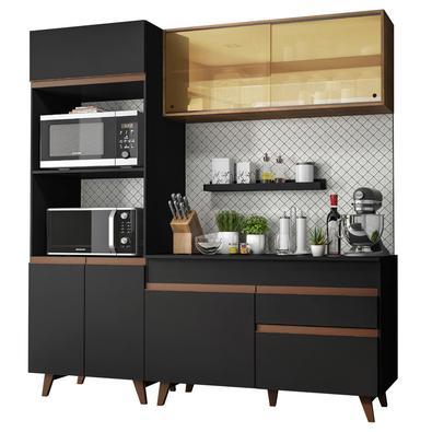 A linha de Cozinhas Reims da Madesa foi desenvolvida com base no que há de mais moderno em design. É fabricada com materiais de alto padrão, como dobr