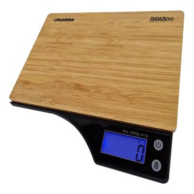 Para não errar em suas receitas, tenha a medida certa utilizando a balança digital Bamboo da Roadstar. A balança contém uma alta precisão de 1g a 5kg