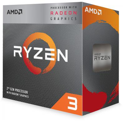 Processador AMD LGA AM4 Ryzen 3 3200G 3.6GHz 6Mb Radeon RX Vega8.
