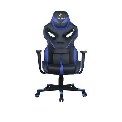 Cadeira gamer TOP TAG HS112BLI na cor Preta e AZUL Material: PU, Metal Tamanho do produto: 71x80x135-145cm Apoio de braço fixo Elevação a gás: 100mm c