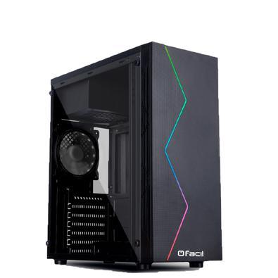 Computador Gamer Fácil Intel Core I5 3470s (terceira Geração) 8gb, Placa De Vídeo Geforce Gt 730 2gb, Ssd 120gbGABINETE GAMER BLACK COM LATERAL TRANSP