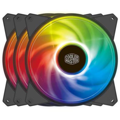 Você nunca teve um Cooler assim! Serie MasterFan, com RGB endereçável, refrigerador Ventilador do caso e rolamento tipo rifle ! MasterFan, só tem no K