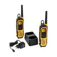 Rádio ComunicadorRC4100 WATER PROOF - (PAR) » Proteção IP67 » 26 canais + 121 subcanais » Utiliza a banda FRS/GMRS* » Compatível com pilhas recarregáv