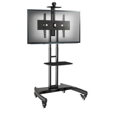 Pedestal para TV de 32 a 75 Suporte Videoconferência com rodízios AVA1500-60-1P NB  - Ref: AVA1500-60-1P Indicado para escolas, salas de reunião, even