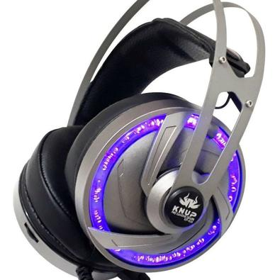 Fone Headset Gaming Kp-434 Surround 7.1! - Com sistema de som surround 7.1 canais, você pode ouvir os passos dos inimigos e evitar ser pego de sur