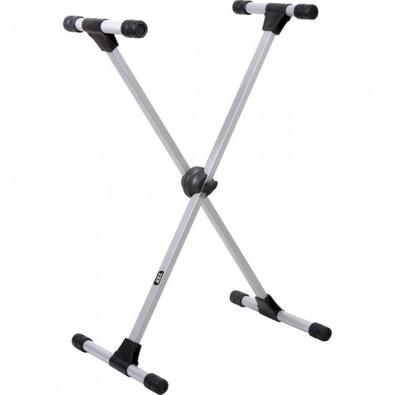 """Suporte Metálico em """"X"""", para Teclado, modelo profissional, e com altura regulável de 66 a 100cm."""