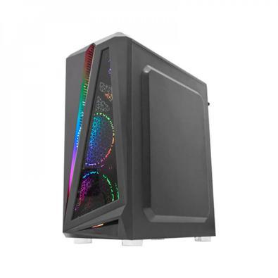 Gabinete Gamer Black Hawk Kmex ATX CG-05QI    Principais Características :  Áudio HD  Painel preto com vidro e barra de LED RGB  Chapa lateral full vi