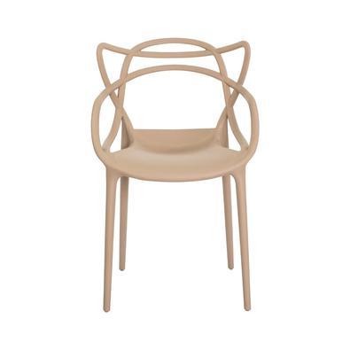 Kit 3 Cadeiras Allegra Nude Sala Cozinha Jantar - Fendi
