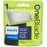 Lâmina QP210 para Aparador Philips One Blade possui um inédito sistema, feito para cortar o pelo e não a pele, proporciona um barbear muito mais fácil