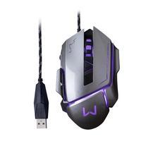 O mouse gamer grafite com tecnologia led proporciona além de conforto durante jogos de longa duração, funções multimídia para avançar e retornar e um