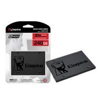 SSD Kingston A400, 240GB, SATA, Leitura 500MB/s, Gravação 350MB/s - SA400S37/240G   Características: - Marca: Kingston - Modelo: SA400S37/240G - Leitu