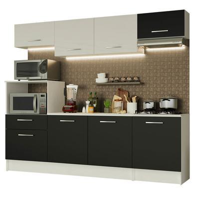 A Cozinha Completa Onix da Madesa é tem como destaque o visual moderno, seguindo as novas tendências de design.Este modelo contempla dois balcões e do