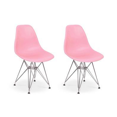 Cadeiras Charles Eames Eiffel Base Metal Design Esta cadeira vai dar um up na decoração do seu lar! Feitas em material de excelente qualidade, as cade