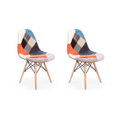 Cadeira Charles Eames Eiffel Sem Braços Patchwork Esta cadeira vai dar um up na decoração do seu lar! Feitas em material de excelente qualidade, as Ca