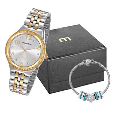 Kit Relógio Feminino Mondaine é perfeito para você mulher que adora estar na moda, com acompanhamento de uma linda joia para combinar é o acessório qu