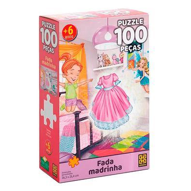 Não deixe de brincar e se divertir com este quebra-cabeça! São 100 peças, para você encaixar uma a uma até formar uma linda imagem da Fada Madrinha.Ma