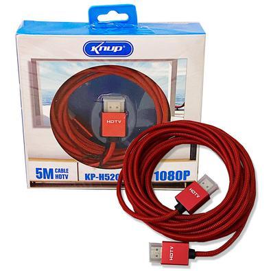 Cabo HDMI Knup 5 metros KP-H5200Os novos cabos HDMI transferem sinais de alta definição de áudio e vídeo digital. O conector banhado a ouro oferece ma