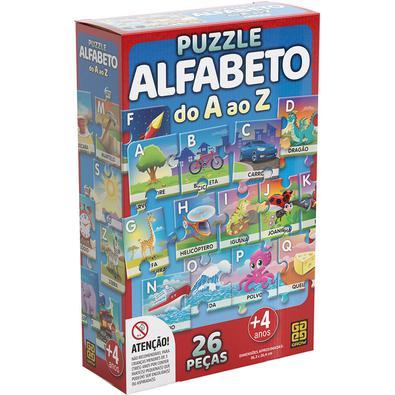 O Puzzle Alfabeto é único em sua categoria! Só ele traz ilustrações em um cenário contínuo que, além de facilitar a montagem do quebra-cabeça, torna-l