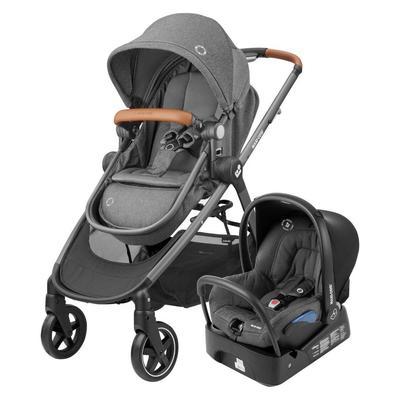 O sistema de viagem Maxi-Cosi Anna é composto pelo carrinho de passeio Anna e pelo bebê conforto Citi com base. O assento do carrinho Anna transforma-