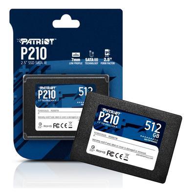 Ssd 512gb 2.5´´ Sata 3 500mb/s Leit - 400mb/s Grav P210 P210S512G25 PatriotO SSD P210 foi projetado com o mais recente controlador SATA 3, capaz de fo