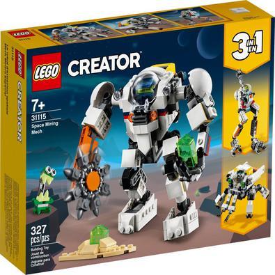 Os fãs de LEGO® vão adorar criar cenas de ação com este conjunto Creator 3in1 Robô de Mineração Espacial (31115). Os recursos incluem pernas e braços