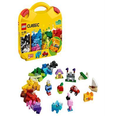 Diverta-se a organizar suas peças LEGO® com esta Maleta Criativa LEGO Classic. Abra a caixa amarela para encontrar as peças de cores vivas, e depois s