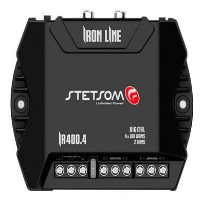 Módulo Amplificador Stetsom 400 Rms IR-400.4 Iron Line Stereo Digital 4 Canais 2 Ohms Classe D Rca Crossover Full RangeO Módulo Amplificador IR-400.4