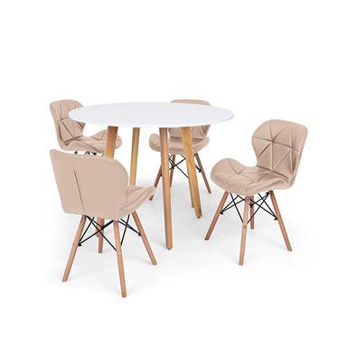O Conjunto Mesa de Jantar Laura com Cadeiras Leda são importantes itens para a sua decoração. Independente da proposta, a decoração da sua residência