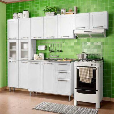 Cozinha Bertolini Multipla Compacta 3 Pecas 2 Vidros Branco Paneleiro Duplo 2 Vidros, Armarios Aereos (sem Balcão) A linha de produtos em aço Múltipla