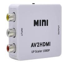 Adaptador e Conversor RCA AV para HDMI, suporta resolução até 1080p de entrada. Uma solução perfeita para conectar seus aparelhos mais antigos na sua