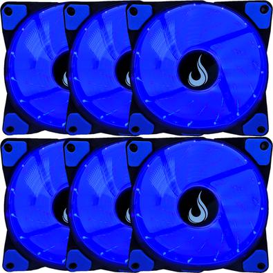 Kit 6 Cooler Fan Rise Mode 120mm Led Azul - Rm-wn-01-bb
